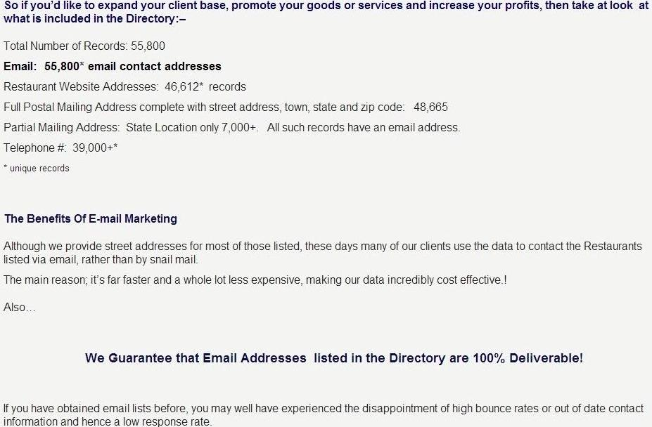 Colorado Business Email Mailing List & Directory